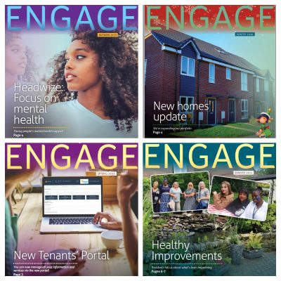 Engage newsletter front covers